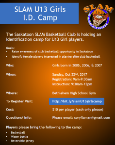 SLAM ID Camp poster image